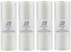 4-11x50 Rolls Food Magic Seal for Vacuum Sealer Food Storage Bags! Total 200 FT