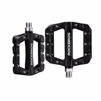 ROCKBROS MTB Bike Bicycle Pedals Nylon Wide Cycling Bearing Pedals Black 385g