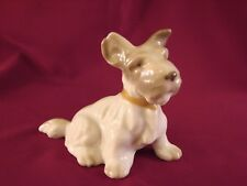 "Vintage Scotty Terrier Dog Figurine Porcelain Red Stamp Tan Collar 3""T St9"