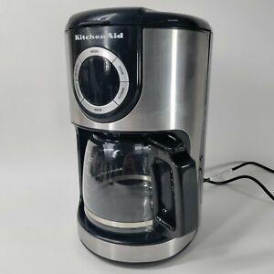 KitchenAid KCM1202OB 12-Cup KK1526 Glass Carafe Coffee Maker Onyx Black Tested