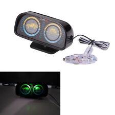 12V Car SUV Angle Tilt Inclinometer Compass Balancer Backlight Slope Meter Gauge