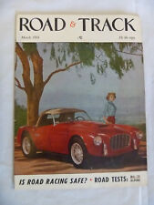 ROAD & TRACK MAGAZINE MARCH 1954 SIATA COVER MG TF SUNBEAM ALPINE ROAD TESTS