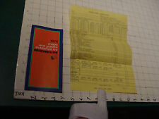 Vintage Paper item: 1970 maps & guides published by MICHELIN w order form