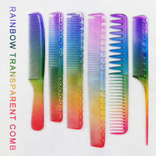 Anti-static Flattop Hair cutting Comb Salon Hairdressing Styling Clear Colourful