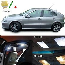 Error Free White 9 SMD LED Interior Lights For Seat Leon 1M 1M1 Cupra 4 R FR ST