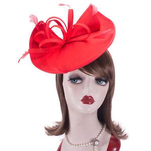 Women 1950s Vintage Look Polyester Saucer Headpiece Fascinator Cocktail Hat T430