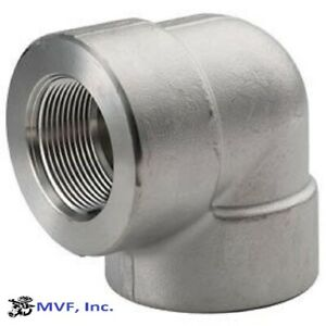 """3/8"""" 3000 (3M) Female (NPT) 90° Elbow Forged 304 Stainless Steel <SS010321304"""