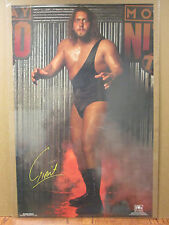 Vintage NWO 1998 wrestling The Giant Car Garage poster man cave 7093