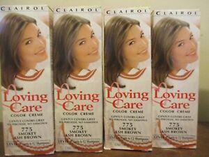 Lot of 4 Clairol Loving Care Color Lotion Hair Dye 775 Smokey Ash Brown
