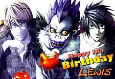 Death Note Anime Manga Ryuk Light Yagami Cumpleaños tarjeta de felicitación personalizada