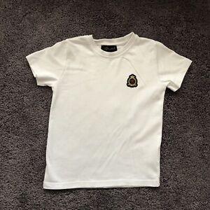 Benjart Kids Boys White Tshirt Age 4-5 Years