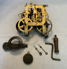 Vintage Sessions Clock Movement Key Wind Forestville Conn W/ Pendulum & Chime