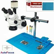 7X-45X Trinocular Industrial Zoom Stereo Microscope + 2MP VGA C-mount Camera