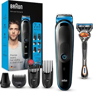 Braun 7-in-1 All-in-one Trimmer 3 MGK3245, Beard Trimmer for Men, Hair Clipper