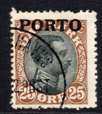 Denmark 25 Ore Postage Due Stamp c1921 Used (2327)