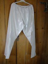 PVC-U-Like PVC Trousers Jogging Bottoms Pants White Cream XL Plastic Vinyl
