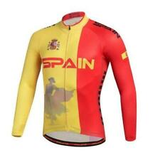 Brand New Spanish national team Fleece Thermal cycling Long Sleeve Jersey