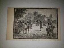 The Meet Roxbury Massachusetts 1879 Sm Sketch Print Rare!