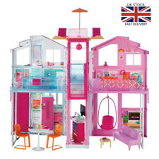 Barbie Dolls House 3 Storey Pretend Role Play Fashion Dreamhouse Toy Playset NEW