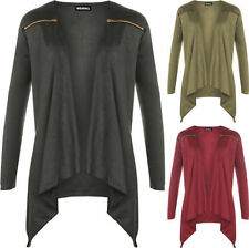 Polyester Thin Knit Solid Plus Size Jumpers & Cardigans for Women