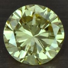 0.15 cts Natural Fancy Yellow Diamond Round Cut Belgium untreated loose gem