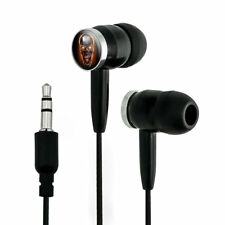 Chrome Metal Flaming Skull Novelty In-Ear Earbud Headphones