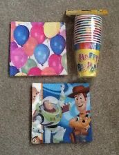 Pack Of 12 Birthday Party Cups Toy Story& Balloons Napkins