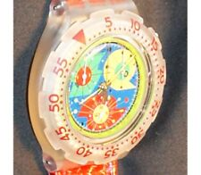 1993 Swatch Watch Swiss made water reistant vintage but . New wrist red band