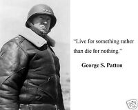 """Patton /"""" thank god such men lived/"""" Quote 8 x 10 Photo #tg3 General George S"""