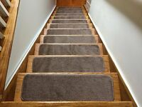"""Euro Stair Treads Soft Set of 2,3,4,5,7 or 13 pcs Indoor Slip Resistant 8.5""""x30"""""""