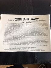 73-3 Ephemera 1949 Advert Merchant Navy Cadet Course Warsash