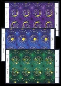 ISRAEL 3 SHEETS 8 STAMPS FESTIVALS 2021 ECCLESIASTES SCROLL MNH