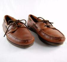 St John's Bay Men Brown Leather Casual Slip On Boat Shoes US Shoe Size 11M