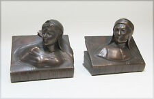 Jennings Bros Beatrice and Dante Bronze Bookends