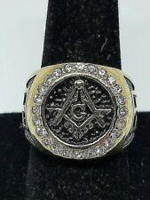 18K Gold Filled Titanium Masonic Ring Size 10