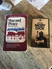War and Peace by Tolstoy (1966,1st) & Moby Dick by Melville (1961,1st Signet) PB