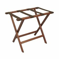 Wooden Mallet LR-MHBRN Deluxe Straight Leg Luggage Rack In Mahogany Finish New