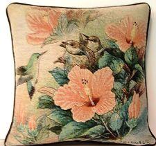 Birds - Hummingbird Feeding Nest Of Babies By Lena Liu Tapestry Pillows New