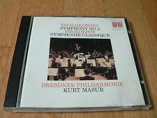 Kurt Masur - Tchaikovsky : Symphony No. 2 - Prokofiev : Symphonie Classique - CD