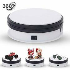 "Electric 360 Degree Rotating Turntable Display for Jewellery Watch - 6"" White"