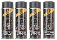 4 Bombes Spray de peinture Noir Mat pour Jantes et Enjoliveur Auto Moto