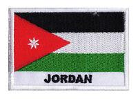Ecusson patch patche pays drapeau Jordan JORDANIE 70 x 45 mm  à coudre