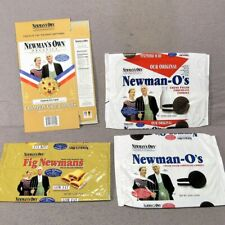 vintage LOT  6 NEWMAN'S OWN empty package champion chips fig creme   cookies