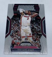 2018-19 Panini Prizm Basketball Dwayne Wade Dominance #23 Miami Heat Great