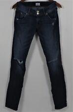 Hudson Womens Size 25 Denim Distressed Skinny Jeans Colin Flap Denim