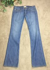 Frankie B Women's Jeans Sz 6 Butterfly Boot Leg Light Wash Made In USA
