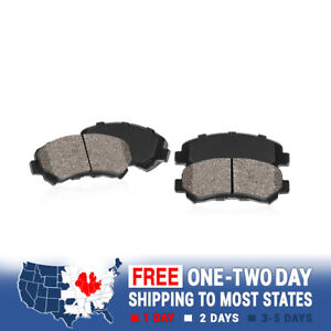 Front Set 4 PerFor mance Quiet Low Dust Ceramic Brake Pads Faster Stops For