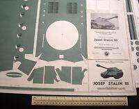Josef Stalin Panzer Tank Wilhelmshavener Modellbaubogen Lehrmittelinstitut 1950s