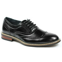 Ferro Aldo Men's Black Wingtip Lace up  Oxford Dress Shoes M-139001
