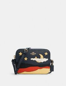 Coach Night Desert Leather Camera Bag Crossbody Midnight NWT